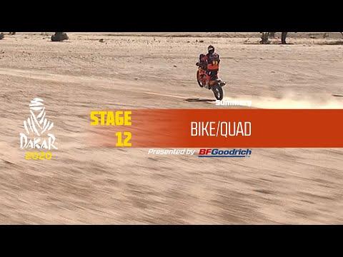 【ダカールラリーハイライト動画】ステージ12 バイク部門のハイライト
