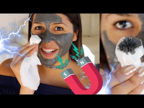 Black fishnet facial mask