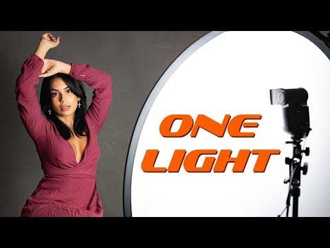 Single Light Portrait shoot - LIVE