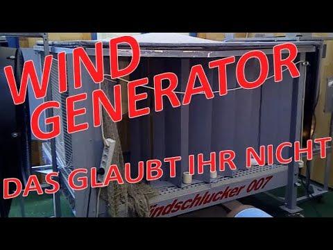 Das wirst Du nicht glauben wenn Du es nicht selbst siehst ! #Windgenerator Windschlucker 007