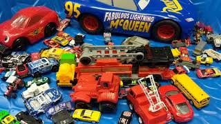 Cars for Kids, School Bus, #cars Race Cars, Trucks, Disney Cars and Hot Wheels Cars in Blue Pool