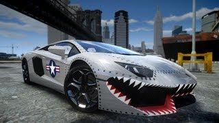 GTA IV 2012 Lamborghini Aventador LP700-4 USAF Crash Testing