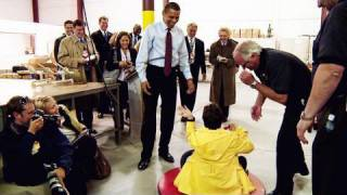 Raw Footage: The President and the Hovercraft