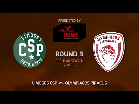 Highlights: RS Round 9, Limoges CSP 67-76 Olympiacos Piraeus
