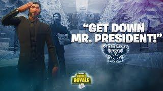PROTECT THE PRESIDENT! | Fortnite Battle Royale Highlights #41 (ft. Ninja, BasicallyIdoWrk & DrLupo)
