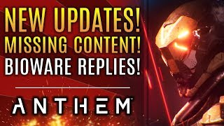 Anthem - NEW Updates! Bioware Responds To Missing E3 Features! EA Play 2019 Dates!