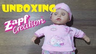 Unboxing Kinderspielzeug Puppe Zapf Creation - My First Baby Annabell I Care for You