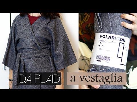 Vestaglia Kimono con Plaid IKEA | Cucito per Principianti