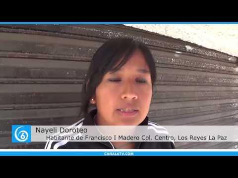 Continúan en mal estado calles aledañas al centro del municipio de Los Reyes-La Paz