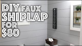DIY Faux Shiplap For $80