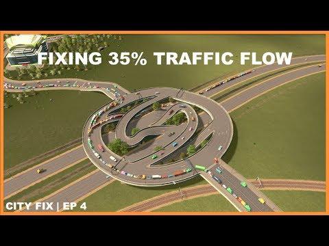 Worst Traffic Percentage Iv Ever Seen | CITY FIX | Cities Skylines