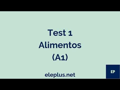 Test 1 Alimentos (A2)