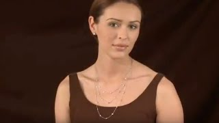 CZ Stud Earrings and CZ Station Necklace In 14kt White Gold