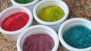 Crafts For Kids: How To Make Edible Colored Sand - Video Youtube