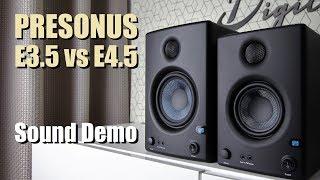 Presonus Eris E3.5 Vs Presonus Eris E4.5      Sound Demo W/ Bass Test