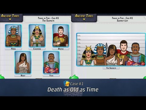 Criminal Case: Travel in Time - ALL The  Suspects from 31/31 Cases