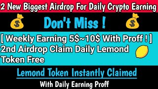 😱Two new airdrop instant withdraw 2021 | Daily Earn 5$~10$ | with instant withdrawal | with proff 🤑
