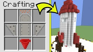 Minecraft: *CRAFTING* AN ENTIRE ROCKET!!! - CRACK THE FAKES - Custom Map [4]