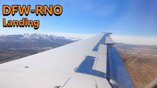American Airlines MD-80 landing at Reno