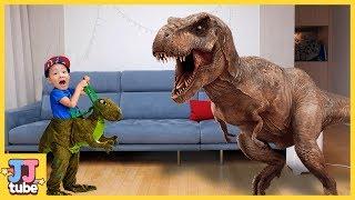 공룡 장난감을 마법 젤리로 뿅! 쥬라기 월드 티라노 장난감 놀이 Jurassic Dinosaur pretend play Magic Playhouse[제이제이 튜브-JJ tube]