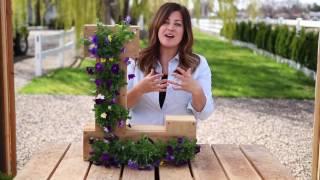 Outdoor Cedar Monogram Flower Planter By Ellery Designs