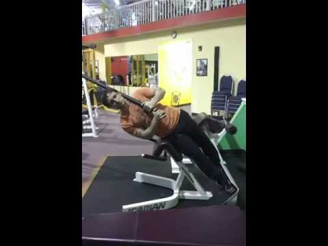 Weighted Roman Chair Oblique Crunch Exercise Com