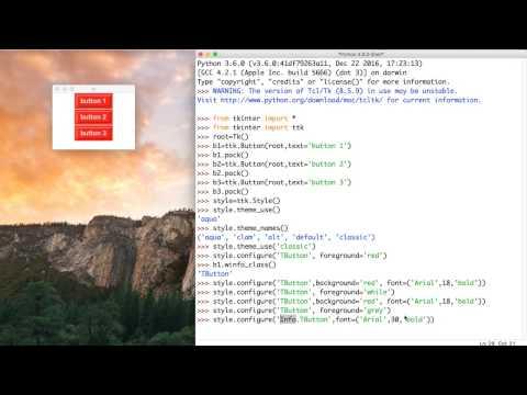 45- Python GUI | Style- الستايل