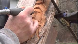 Learn To Carve Wood Spirits With Power 4