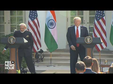 Trump and India PM deliver joint statement at White House