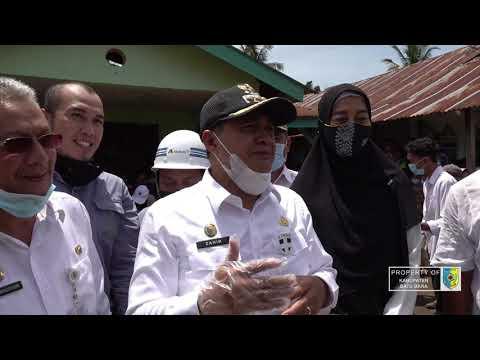 Bupati Batu Bara Kunjungi Korban Bencana Puting Beliung