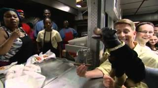 Triumph, The Insult Comic Dog Visits Chicago's Weiner's Circle With Jack McBrayer On 'Conan' (VIDEO)
