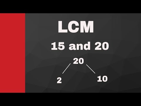 LCM of 15 and 20 ( Least Common Multiple)