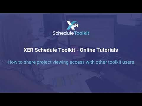 How to share project viewing access with other XER Schedule Toolkit users