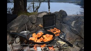 Wild Camping Scotland In The Rain Bushcraft Campfire Cooking Sleeping In Your Car Loch Riecawr