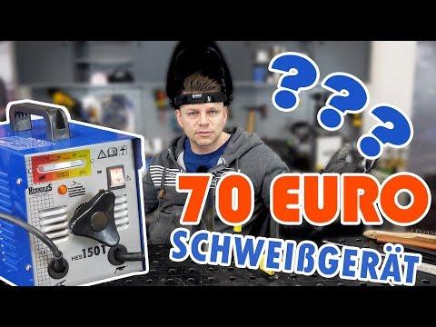 Schweißgerät für 70 Euro? - Igor's Testbericht -  Elektroden Trafo Baumarkt  funktioniert es?