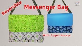 DIY MESSENGER BAG | CROSSBODY BAG TUTORIAL | REVERSIBLE BAG TUTORIAL | BAG MAKING