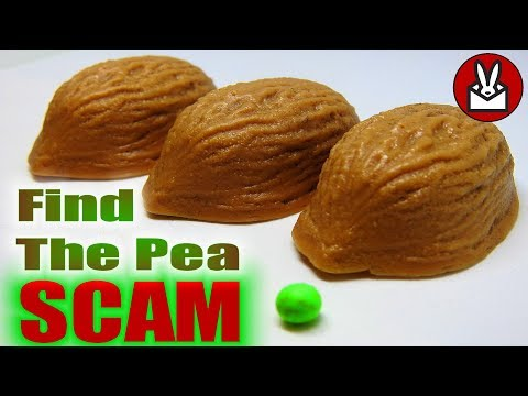 Find the Pea Scam 3 Shell Game Con Magic Trick