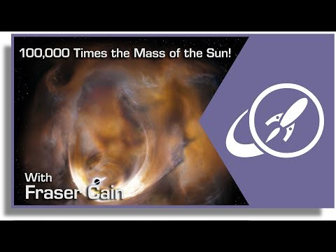 An Intermediate Mass Black Hole Found in the Milky Way. 100,000 Times the Mass of the Sun