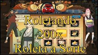 Naruto Online - Roleta da Sorte 200x e Abrindo 10 Baus de Invocação