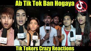 Tiktokers Reaction On Tik Tok App Ban In India #Throwback