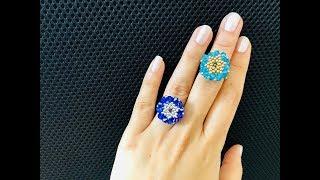 Бисерное кольцо.