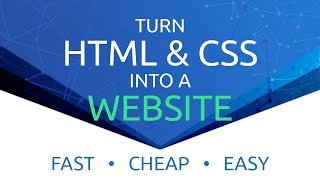 How To Make A Website From HTML & CSS - FAST, CHEAP, EASY