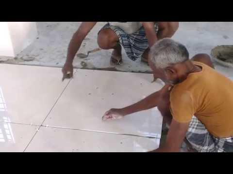 Kajaria 800×800 Tiles laying with spacer