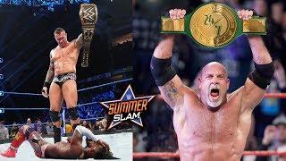 10 Last Second WWE SummerSlam 2019 Rumors & Spoilers - Goldberg Wins 24/7 Title