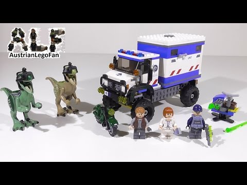 Vidéo LEGO Jurassic World 75917 : La destruction du vélociraptor