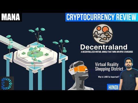 Decentraland (MANA) - Blockchain powered Virtual Reality world - Review & Future Prediction -[Hindi]