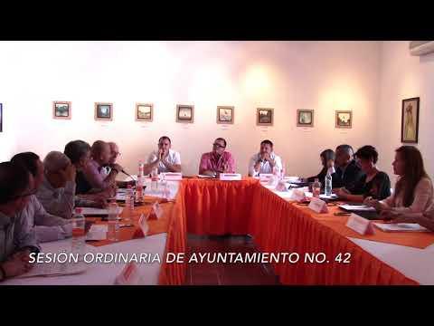 Sesión Ordinaria No.42 de Ayuntamiento 29 de agosto de 2017