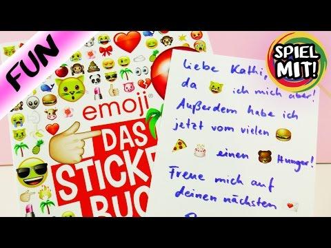 EMOJI Stickerbuch für Nachrichten   Nina und Kathi pflegen Brieffreundschaft   Whatsapp Alternative
