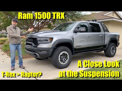 2021 Ram 1500 TRX Suspension Walkaround - A Better Off-Road Pickup Truck Than The Ford F-150 Raptor?
