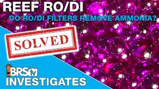 Do RODI filter remove ammonia? - BRStv Investigates